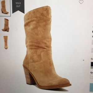Lucky Brand Embrleigh Leather Boot Sesame 6.5